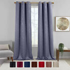 Virginia Grommet Blackout Weave Embossed Window Curtains Set of 2 panels