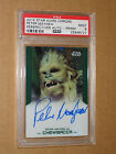 PSA 9 PETER MAYHEW CHEWBACCA STAR WARS TOPPS CHROME PRISM AUTO movie autograph 1