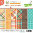Scrapbooking Crafts Lawn Fawn 6X6 Paper Pad Perfectly Plaid Fall Colors X 36