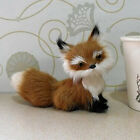 Realistic Handmade Furry Animal Figure Toy Decor Super Cute Brown Fox 5