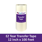 12 in X 100ft Roll of Clear Application Transfer Tape for Sign Craft Vinyl V0805