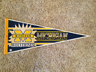 Vintage Michigan Wolverines Full Size Pennant