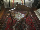 Victorian Quarter-sawn / Tiger Oak Harpies / Lions Campaign Chair, upholstered