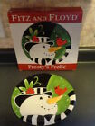 FITZ AND FLOYD FROSTY'S FROLIC CANAPE PLATE NIB