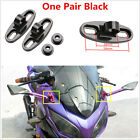 Black Aluminum Motorcycle CNC Rearview Mirror Fairing Holder Adapters For Harley