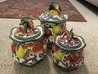 Fitz & Floyd Florentine Fruit 3 Pc Canister Set
