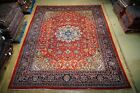 Hand Knotted 10' x 14' Semi-Old Sarouk Distinctive Look Very Popular Rug