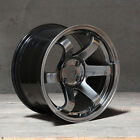15x8 JNC 013 4x100 25 Hyper Black Wheel New set4
