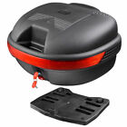 30L Motorcycle Tour Tail Box Scooter Trunk Luggage Top Lock Storage Carrier Case