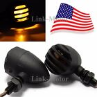 2 x SMOKE Motorcycle BLACK GRILL Turn Signal Brake Stop Running Tail Lights