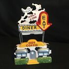 Cow Drive Thru Diner Salt Pepper Shakers Clay Art Holy Cow
