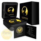 2016 American Eagle Black Ruthenium Shadows and 24k Gold BOX  COA NEW coin