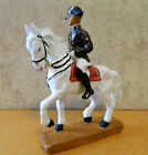 Elastolin Lineol painted resin conversion 7.5cm Lipizzaner mounted toy soldier
