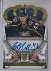 2013-14 PANINI CROWN ROYALE HOCKEY Card Sean Collins RC Auto Columbus Blue Jacke