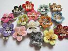 40 Felt 1 Flower w Bead Leaf Appliques Craft U PICK AF057