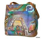 Sova Hand Painted Leather Tote