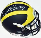 CHRIS EVANS 12 SIGNED MICHIGAN WOLVERINES FOOTBALL MINI HELMET GO BLUE COA