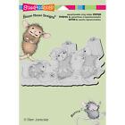 Stampendous House Mouse Designs Elf Gifts Cling Rubber Stamps Christmas