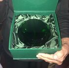 Huge 6 Crystal Green Paperweight Glass Emerald Giant Diamond Cut Wedding Gift
