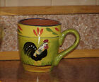 Baum Brothers PROVENCE ROOSTER COLLECTION Cup Handled Folk Art Roosters 4.25