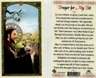 Prayer Card for My Pet Bless Them and All Creatures Catholic Laminated HC9 450E