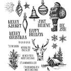 Tim Holtz Stampers Anonymous HOLIDAY DRAWINGS Christmas Rubber Cling Stamp Set