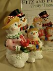 Fitz and Floyd Frosty Friends Christmas Musical Snowman Wish You A Merry Xmas