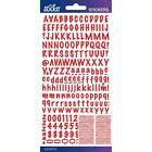 Scrapbooking Crafts Stickers Sticko Small Marker Alphabet Numbers Red X2 Sheets