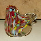 BEAUTIFUL VINTAGE SPARROW BIRD MULTI COLORED PAPERWEIGHT