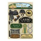 Scrapbooking Crafts Karen Foster Stickers Horse  Rider Lets Ride Shoes Saddle