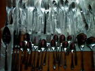 SALE HUGE 62 PC MISC LOT KNIVES FORKS SPOONS SERVERS ONEIDA STAINLESS MOST NEW
