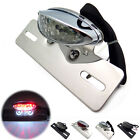 Motorcycle Chrome Cat Eye Rear Taillight License Plate Brake Light Lamp Custom