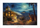 Thomas Kinkade Christmas The Nativity 12 x 18 G P Limited Edition Paper