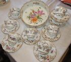 Carl Thieme Dresden Porcelain Large Bowl with 8 Cups and Saucers
