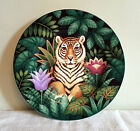 Sakura JUNGLE Tiger Salad Plate Stephanie Stouffer Design 8.25