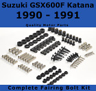 Complete Fairing Bolt Kit body screws for Suzuki GSX 600F 1990 1991 Katana