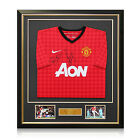 Ryan Giggs And Paul Scholes Signed 2012-13 Manchester United Shirt Framed