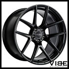 19 ACE AFF02 FLOW FORM BLACK CONCAVE WHEELS RIMS FITS AUDI A7 S7