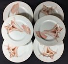Fitz and Floyd FF Coquille Pink Seashell Round Porcelain Lunch 2 Salad Plates