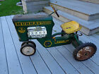 Vintage Murray Diesel 2 Ton Pedal Tractor Ball Bearing Green and Yellow