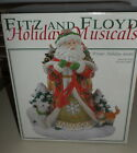 FITZ AND FLOYD WINTER HOLIDAY SANTA MUSICAL IN BOX NEVER USED 2003 O HOLY NIGHT