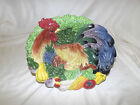 Fitz & Floyd Coq Du Village Rooster Oval Bowl Wall Decor