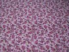 Flannel Fabric Ditsy Pink Paisley Floral 100 Cotton General Sewing