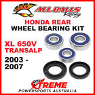 All Balls 25-1603 Honda XL650V Transalp 2003-2007 Rear Wheel Bearing Kit