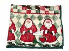 (4) Chriistmas Holiday Napkins Bears Santas Trees ~  Green Red ~ 17 x 17