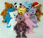 10 Pack Wholesale Lot- Ty Beanie Bears- Maple/Nipponia/1st Germania/97 Teddy