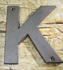 Cast Iron Industrial LETTER K Sign Rustic Brown 5 tall Alphabet