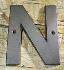 Cast Iron Industrial LETTER N Sign Rustic Brown 5 tall Alphabet