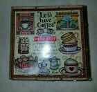 New Hero Arts Rubber Stamp Set Sealed Lets Have Coffee 9 Lot