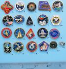 NASA enamel PIN lot of 21 vtg SPACE station SHUTTLE Columbia Atlantis Group D